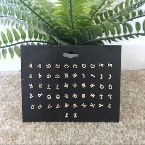 NWT ModCloth Alphabet Earrings